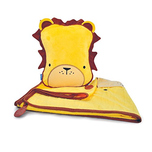 trunki-snoozihedz-travel-pillow-and-blanket-leroy-the-lion-yellow
