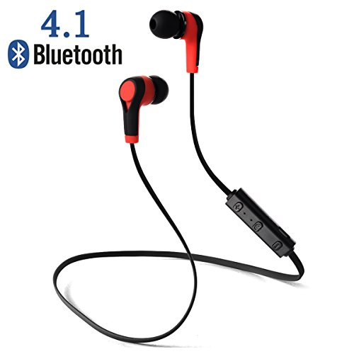 Auricolari Wireless Bluetooth 4.1 Headset Headphone Stereo Cuffie Sport con Microfono per iPhone 6s plus/6s, iPhone 5s/5c/5/4s, iPad, LG G2,...