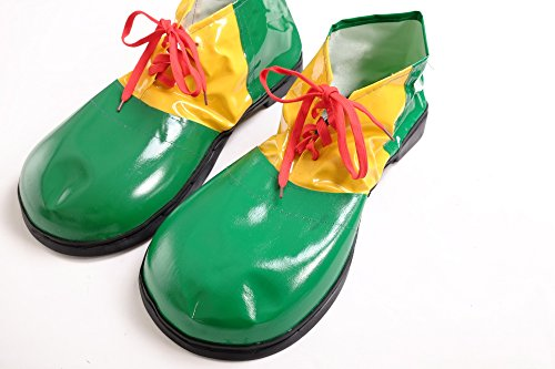 WIG ME UP - Kostüm Karneval Zirkus Clown Clownschuhe übergroße Schuhe grün (Pennywise Kostüm Schuhe)