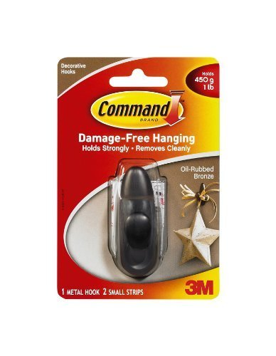 Command Forever Classic Metall Haken, Öl eingerieben Bronze, Klein - Haken öl Kleine Eingerieben
