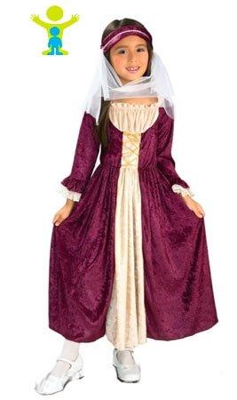 Rubie's - Disfraz infantil chica medieval, S (882328-S)