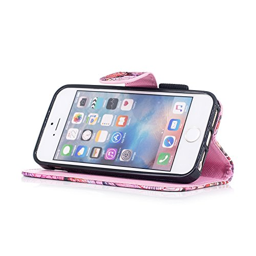 Custodia iPhone 5S, iPhone SE Cover Wallet, SainCat Custodia in Pelle Flip Cover per iPhone 5/5S/SE, Ultra Sottile Anti-Scratch Book Style Custodia Morbida Cover Protettiva Caso PU Leather Custodia Li Kirin