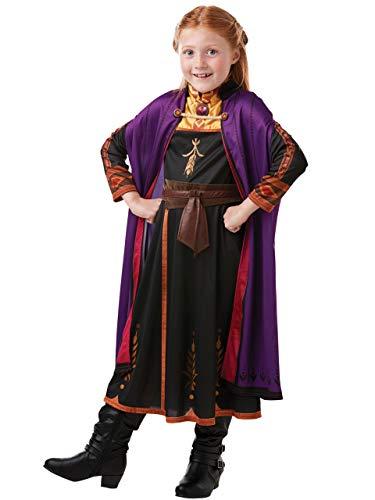 Disney Costumi Vestito con Treccia per Ragazze Il Regno di Ghiaccio Anna Multicolore 2-3 Anni