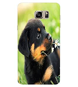 ColourCraft Cute Puppy Design Back Case Cover for SAMSUNG GALAXY NOTE 7 DUOS
