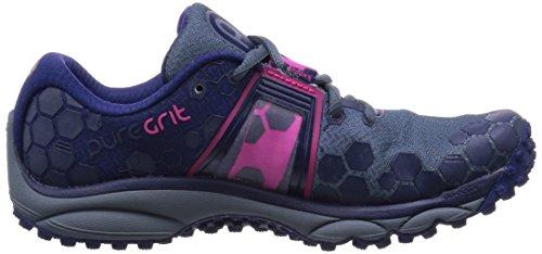 Brooks Puregrit 4, Chaussures de Running Compétition Femme Bleu - Blau (OmbreBlue/Blueprint/PinkGlo)
