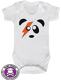 ff0ec7f87 Ziggy Stardust Panda bebé Grow bebé chaleco Body de bebé de Moo