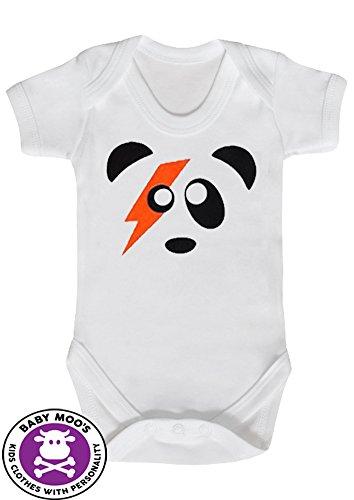 Ziggy Stardust süßer Baby-Bodysuit/Strampler mit Panda-Motiv von Baby Moo's, David Bowie-Geschenk für Babys (für Jungen und Mädchen)