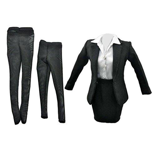 1/6 femminile tailleur vestiti abiti per 12 pollici bambole azione figura tuta con gonna