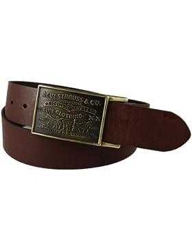 Levi's cinturón de hombre, 38mm, con cierre de placa