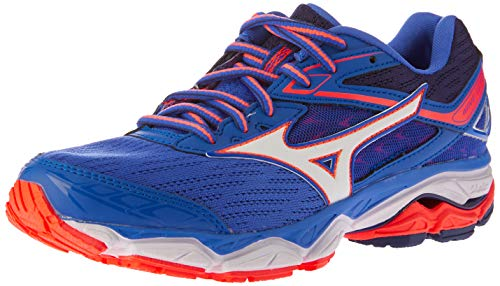 Mizuno Wave Ultima 9 Wos, Zapatillas de Running para Mujer, Multicolor (Dazzlingblue/White/Fierycoral 16), 39 EU