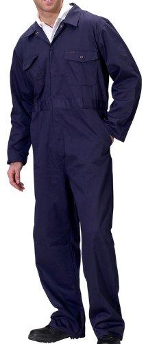 Dealer Workwear - Dealer Workwear Overall Elasticated Side and Stud Fastening Large Navy