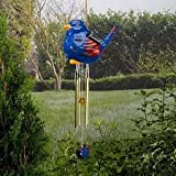 Smart Solar Ceramic Bird Wind Chimes Colour Changing / 3 Bird Colours to choose from (Blue)