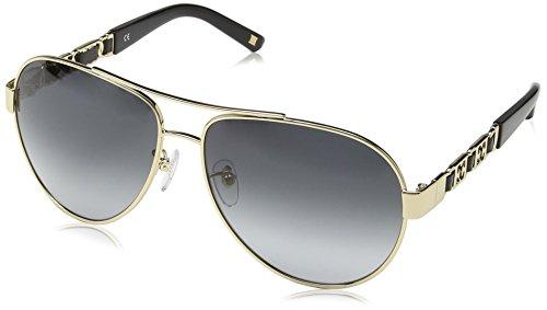 Escada Unisex Aviator Sonnenbrille, Gr. One Size, Gold & Black Detail Frame / Smoke Gradient Lens