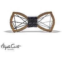 Papillon in legno Geometrico con Filo Intrecciato in Cotone - MadeinItaly
