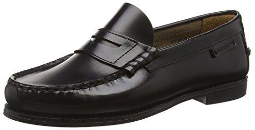 Sebago Plaza II, Mocasines para Mujer, Negro Black Leather, 41 EU