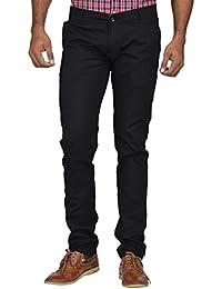 Kushsection Men's Regular Fit Casual Trouser Black Trousers For Men