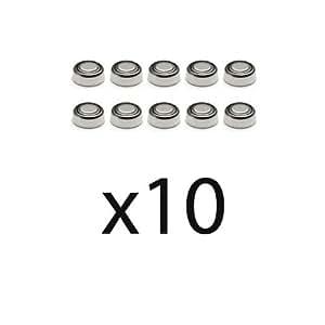 Kingcell Lot de 10 piles bouton alcaline LR44 AG-13 357 pour calculettes/montres 1,5 V