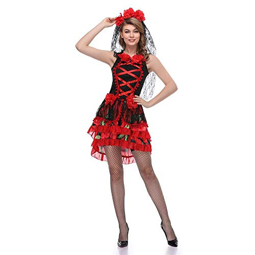LBFKJ Cosplay, Halloween-Vampir-Cosplaykostüm, Zombie-Geisterbraut-Kleid für Frauen Princess Dress DS Dance ()