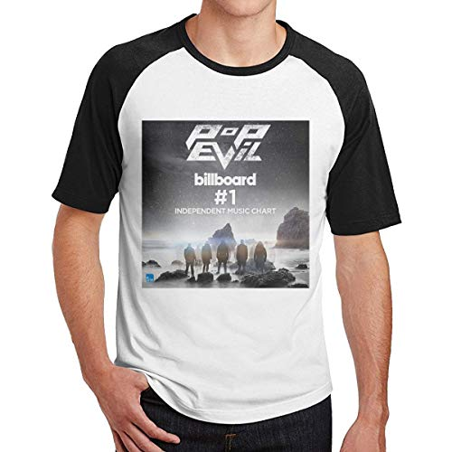 CINDYO Hemden Mens Pop Evil Up Fashion Raglan Printed Shirt Combed Cotton Tee T-Shirt Top