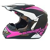 LUHUIYUAN Downhill-Helm für Motorradhelm Off-Road-Rennhelm,Pink,XL