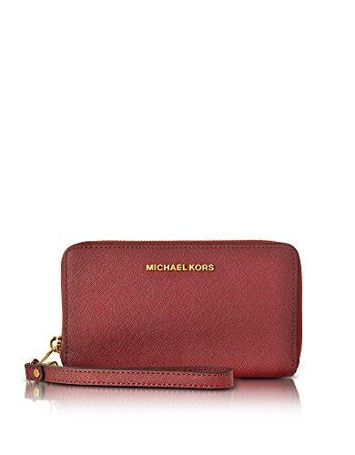 MICHAEL BY MICHAEL KORS PORTAFOGLIO DONNA 32H4GTVE9L848 PELLE BORDEAUX