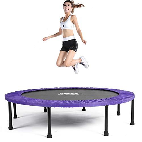 Skiout Faltbar Fitness-Trampolin mit Randabdeckung,Fitness Rebounder für Körpertraining und Cardio Workouts,für Erwachsene und Kinder Max bis 150kg,Purple