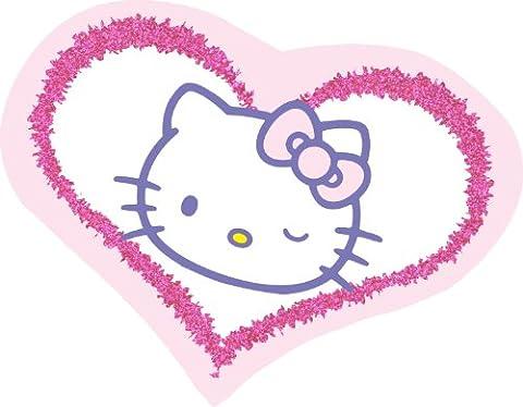 HELLO KITTY Heart STICKER, Officially Licensed Artwork, 3.75