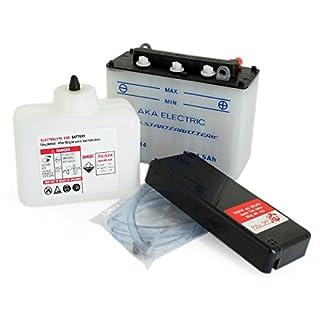 AKA Electric Batterie 6V 4,5Ah AKA (mit Säure) - für Simson KR51/1 Schwalbe, KR51/2 Schwalbe, SR4-1 Spatz, SR4-2 Star, SR4-3 Sperber, SR4-4 Habicht