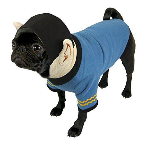 Star Trek - Hundekostüm Hoodie - Captain Spock (S-XL) (Kostüme Für Star Trek Hunde)