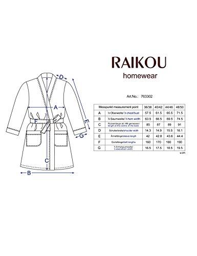 Raikou Damen Baumwolle Frottee Bademantel, Hausmantel, Saunamantel , Loungemantel Hauskleid Klarer schlichter und sehr attraktiver Schnitt Nachtblau