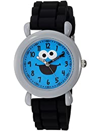 eWatchFactory Boy's 'Sesame Street' Quartz Plastic and Silicone Casual Watch, Color:Black (Model: WSS000035)