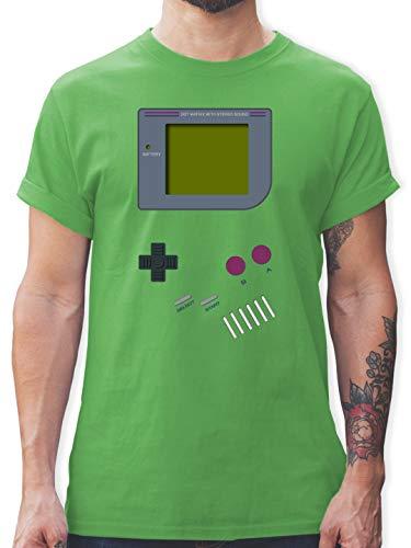 Nerds & Geeks - Gameboy - M - Grün - L190 - Herren T-Shirt ()