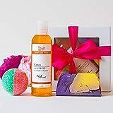 Caja de regalo de cuidado tropical, hecho a mano y natural, regalo para el baño, regalo para mujer, vegano