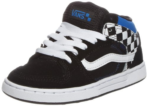 Vans Edgemont, Unisex - Kinder Sneaker Schwarz/(Check) black/white/blue