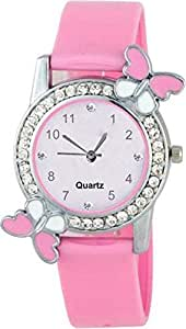 Sale Crowd Analogue White Dial Women's & Girl's Watch - SC-G214-Pink