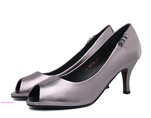 XTIAN , Escarpins peep-toe femme Silber