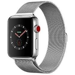 Apple Watch Series 3 OLED GPS (satélite) Móvil Acero Inoxidable Reloj Inteligente - Relojes Inteligentes (OLED, Pantalla táctil, GPS (satélite), Móvil, 52,8 g, Acero Inoxidable)