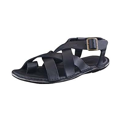 Woodland Men's Gd 1342113 Black Nubuck Leather Sandals - 7 UK