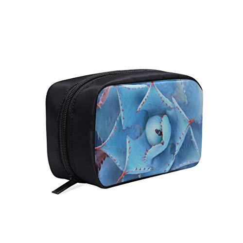 Großansicht der schönen Blumen tragbare Reise Make-up Kosmetiktaschen Organizer Multifunktions Fall kleine Kulturbeutel für Frauen und Männer Pinsel Fall (Tequila-agave, Eine Pflanze)