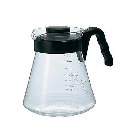 Hario VCS-03B 1000 ml 1-Piece Glass Coffee Server, Black
