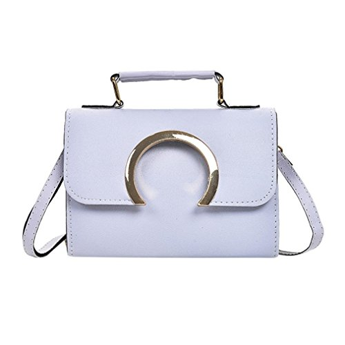 BZLine® Frauen Mode Haspe Tasche Schultertasche Tote Damen Messenger Bag Grau