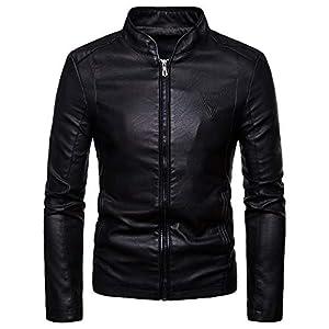 Oasics Fashion Herrenjacke Mantel Herbst und Winter warm Casual Leder Reißverschluss langärmeliges Jackenhemd M-4XL