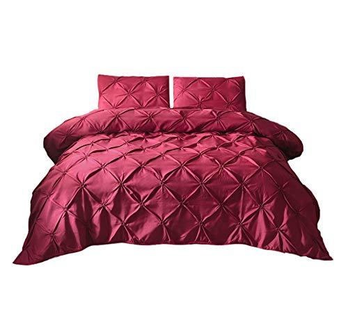 GODGETS Bettwäsche-Set mit Quetschfalten - Super Warm und Weich - Geeignet für Bett,Weinrot,[167 * 230] cm 2 Pics (Lustige Super Pic)