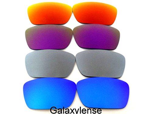 Galaxis Ersatzgläser für Oakley Fuel Cell Blau/Silber/Lila/Rot Farbe Polarisiert 4 Paar