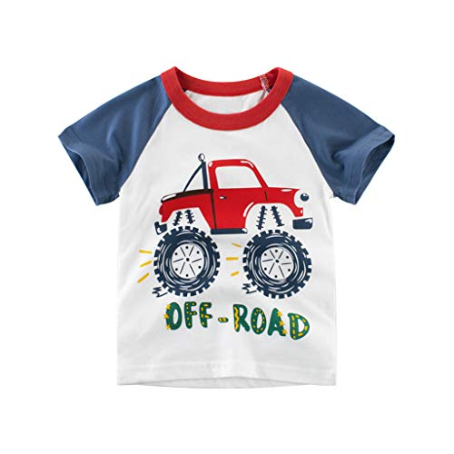 Julhold Kind Kinder Baby Jungen Cartoon Auto Brief Beiläufige Dünne T-Shirt Tops 1 STÜCKE Outfits Kleidung Set 1-10 Jahre