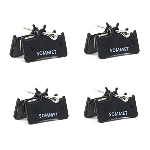 SOMMET 4 Coppie Pastiglie Freno a Disco Semi-Metallico per Shimano XT M775 / M775-DH/XTR Pre-02 / Grimeca System 8 / Hope M4 / Sram 9.0