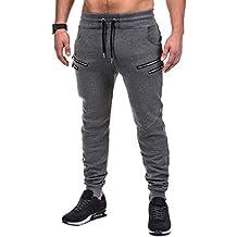 BetterStylz SaschaBZ Hombre Pantalones Deportivos Jogger Pantalón de chándal con 4 Cremalleras Sweatpant div colores (S-XXL)