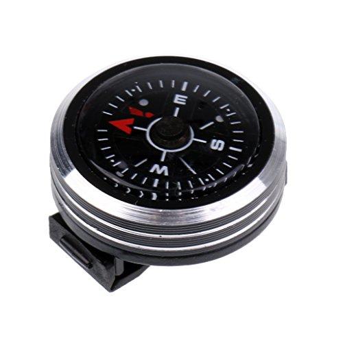 MagiDeal Taschenkompass, kann mit Armband setzen, Praktischer Outdoor Kompass, Uhrband Design Camping Wandern Marschkompass
