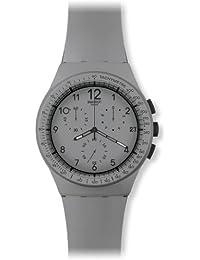 Swatch Unisex-Armbanduhr Chrono Plastic GRRRR Chronograph Silikon SUSM400