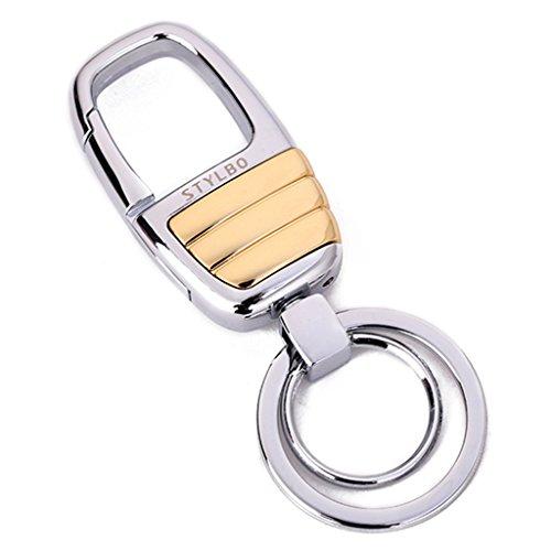 Cs Taille Suspendue Porte-clés Simple Pendentif De Voiture Porte-clés Solide Couleur Argent Or Chrome Gris